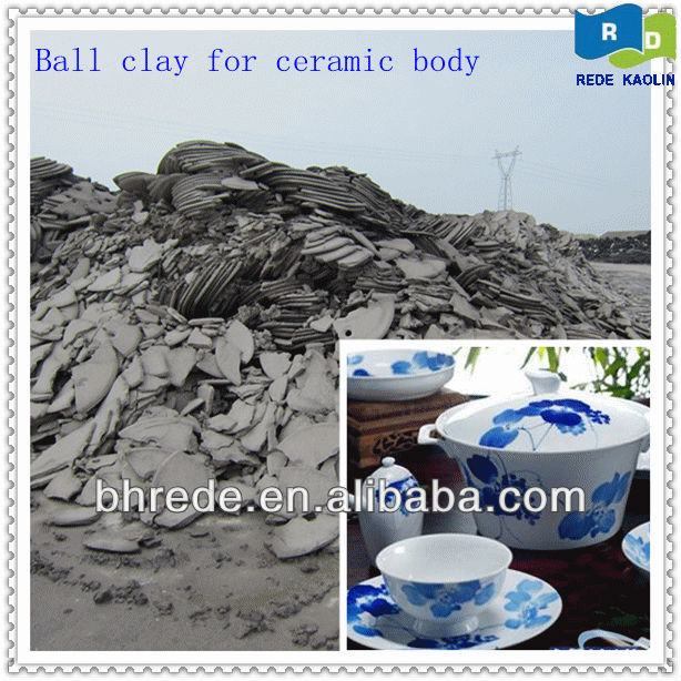 Washed China Ball Clay For Ceramic/Porcelain