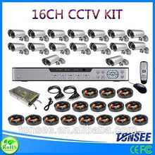 Digital Camera kit hd dvr watch driver download 16CH CCTV DVR with 800TVL CMOS IR bullet Cameras dvr kit