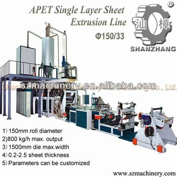 Single Screw extruder PET Sheet thermoforming machine