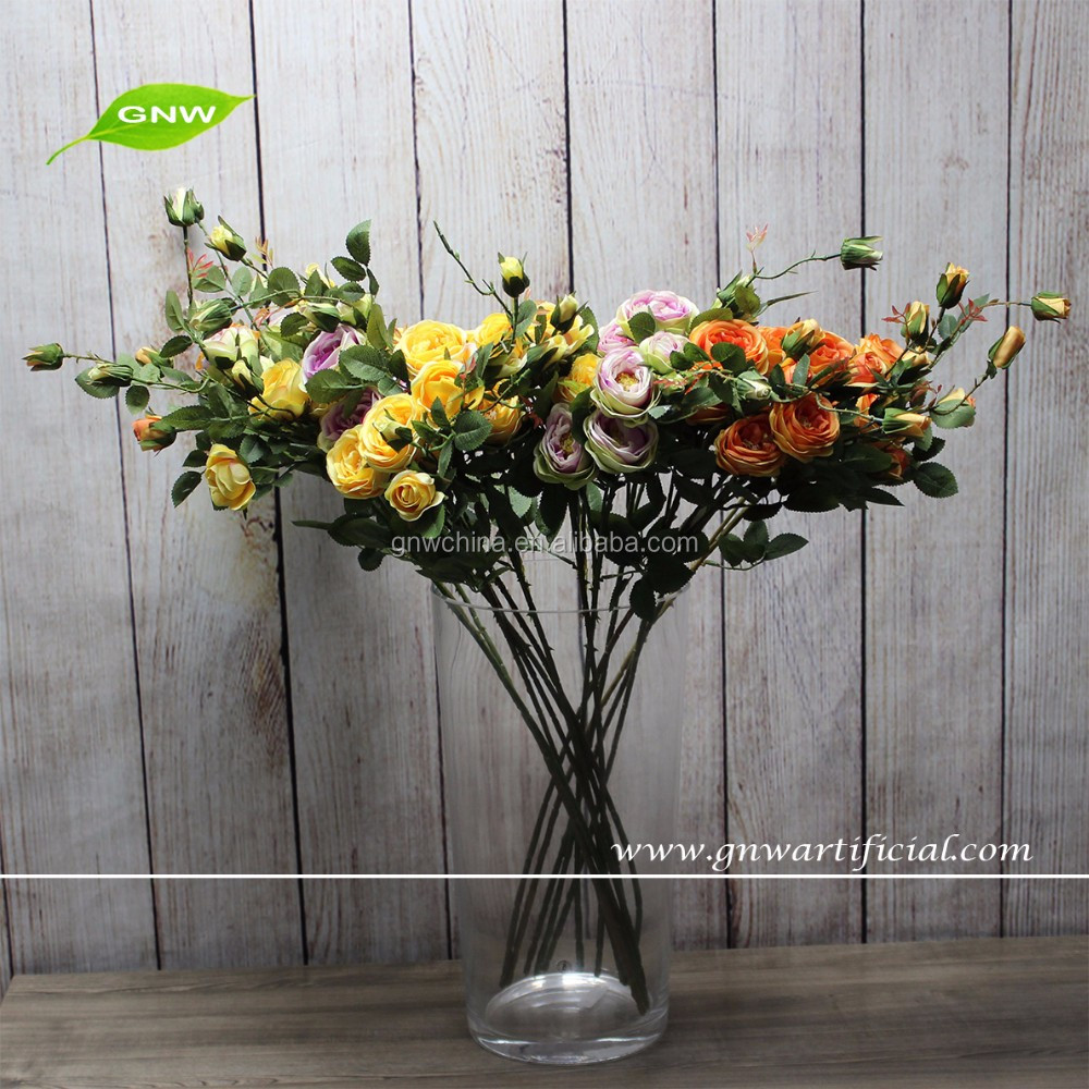 GNW FL-RS94-M-7CM High quality cheap Long stem artificial flower rose yellow for sale