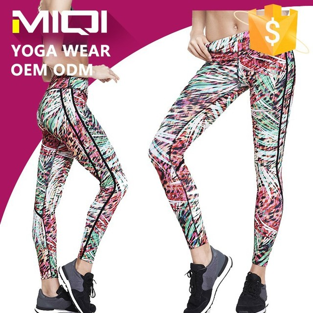 Top quality fitness wear fashion pattern sublimation yoga leggings sports tights for women