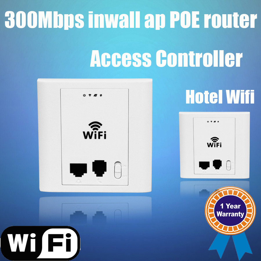Long range in wall access point, 802.3af 300Mbps wireless 48V Poe repeater ap router with RJ11 and RJ45 port for wifi project