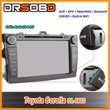 Pure Android 4.4.2 Car DVD For Toyota Corolla 2006 2007 2008-2011 Quad Core GPS Navigation Support TPMS OBD Built-in WiFi