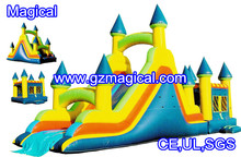 jumping castles inflatable water slide/ inflatable castle with slide