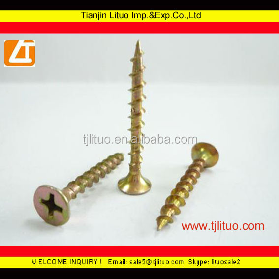 <strong>C1022A</strong> <strong>drywall</strong> <strong>screws</strong> coarse thread yellow zinc plated