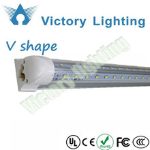 Brand New V-Shaped T8 Led Tube Lights 40W 6FT 1.8m Integrated Led Fluorescent Lamp 270 Angle Double Glow Warm Natural Cool White