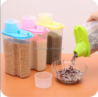 high quality large 2.5 L plastic food grade container box pet Food Storage Containers with flip lid