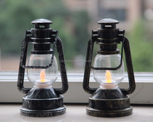OIL LAMP TYPE LANTERN WITH LED TEA LIGHT, BATTERY OPERATED,AMBER FLIKCER LED, FOR OUTDOOR INDOOR