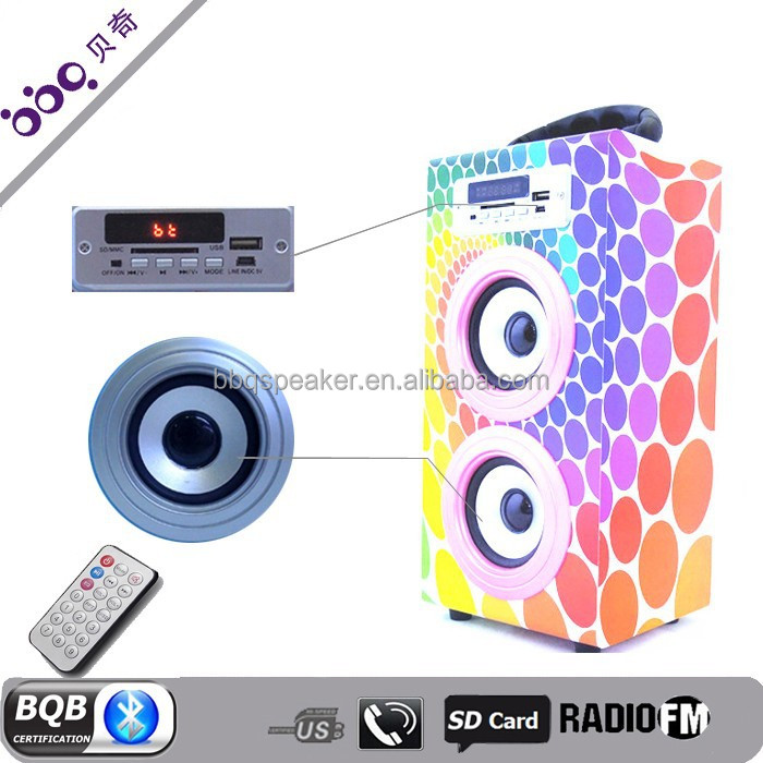 Professional wooden portable oem rohs bluetooth pa speaker system