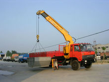 Derrick Cargo Truck Dongfeng EQ1258KB6GJ1 with 10Tons XCMG Crane For Sales