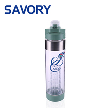 Bpa free customized logo double wall 670ml sports fruit infuser infusion water bottle shaker