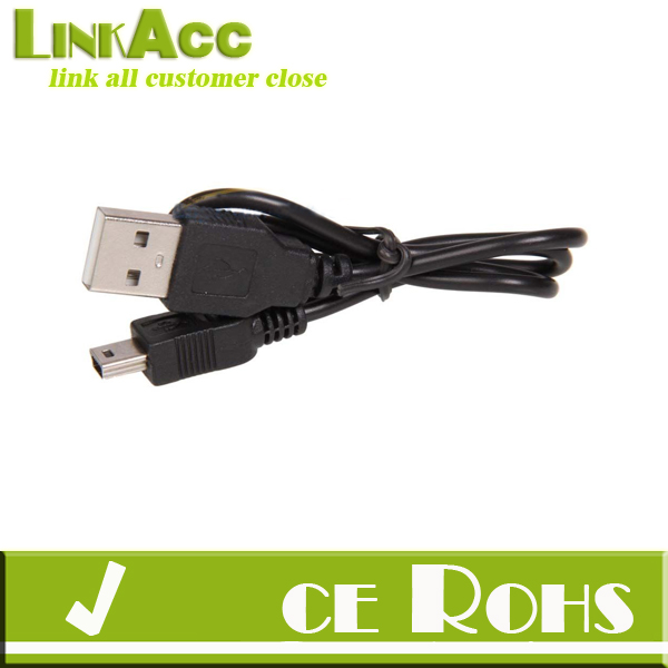 Linkacc-th166 50cm USB 2.0 5-Pin Mini B Male to A Male Data Power Cable for Mp3 Mp4 Camera
