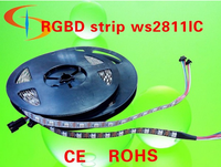 china factory rgb led flexible strip 5v 14.4 w rgb with built-in ic 60leds smd 5050 ws2811