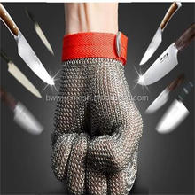 Anti-cut level 5 security Chain Mail protective gloves for working safety