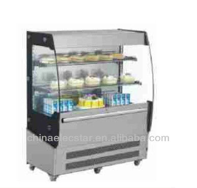 SS open front cold display for supermarket display,supermarket refrigerated equipment,beverage drink display ,grab and go,chill
