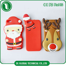 Cute Xmas silicone mobile over extremely protective phones hot selling case for iphone 5s