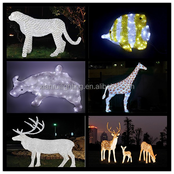 2016 new products led light decoration animated christmas for Animated lighted reindeer christmas decoration