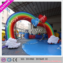 Popular personal custom cheap inflatable entrance arch for wedding