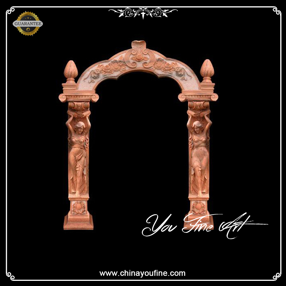 Decor Figure Marble Arch Door Frame with Light