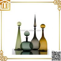 Hand made blown murano art decoration vintage glass bottles vases for sale