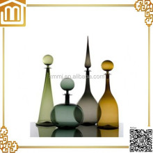 Hand made blown murano art decoration vintage glass bottles vases for sale