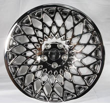 15/18 Inch White vacuum chrome alloy wheel rim with pcd 5x100/120