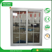 Water Proof Wood Color Aluminum Alloy Window Grill Design Casement Window