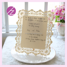 New arrivalclassic design custom writing printing wedding invitation card party &envent favor Simple fashion creative invitation