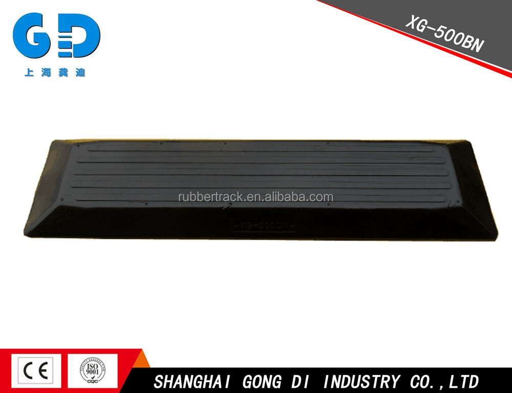 500B Bolt-on Type Excavator Bulldozer Undercarriage parts rubber running track surface