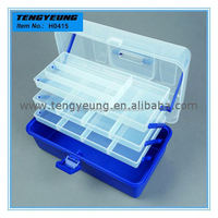 H0415 There Trays Plastic Multi-Function Fishing Box 36*19*20cm tattoo tool box
