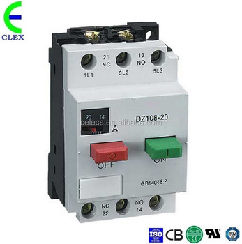 DZ108-20 wholesale OEM 0.4~0.63A power circuit MPCB,circuit breaker control switch