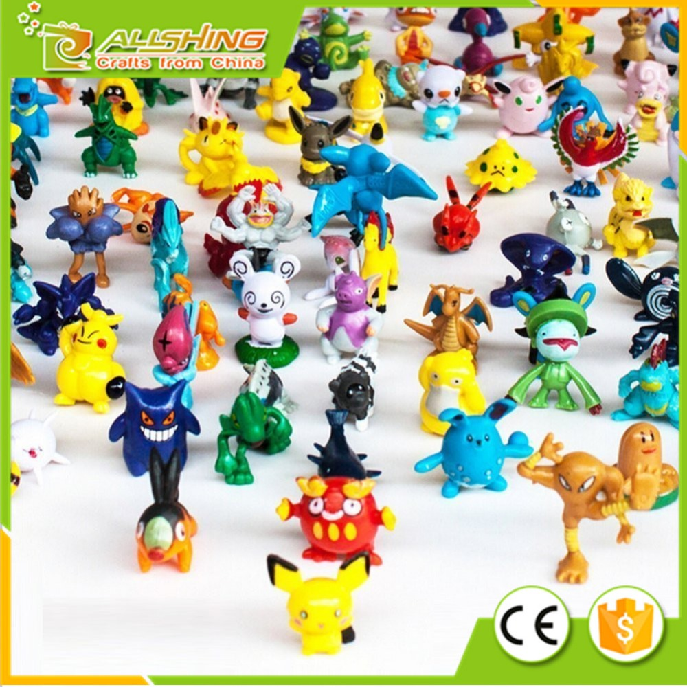 Wholesale Pokemon Pikachu Monster Mini Action Figures Toy (Lot of 24 Piece), 1""