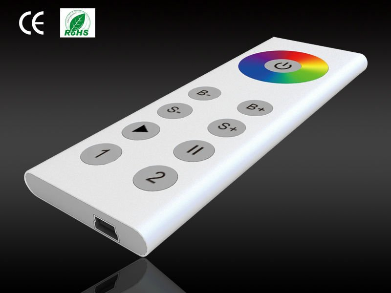 Aluminum finish USB Charge easy LED RGB remote control