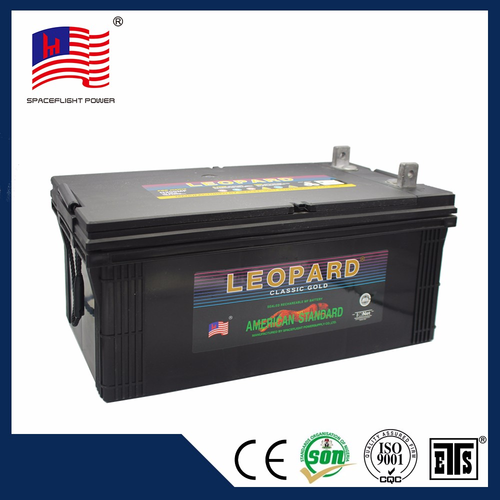 JIS standard full power rechargeable 12v 200ah battery for car and truck