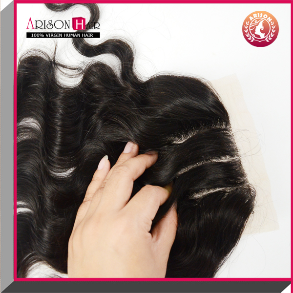 Factory large stock remy lace front closure with baby hair