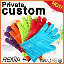RENJIA silicone heat resistant grilling bbq glove glove silicon silicone hot handle holder