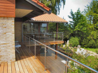 stainless steel glass railing post terrace railing designs
