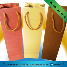 Decorative paper gift wine packing bag with handles wholesale