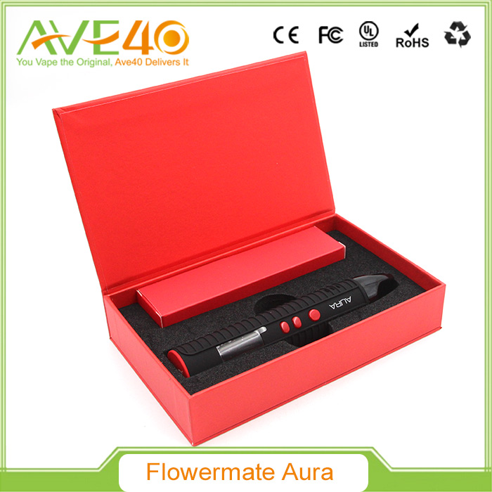 Authentic New Flowermate AURA Dry Herb / Thick Oil Vaporizer VS Eleaf iJust 2 Starter Kit