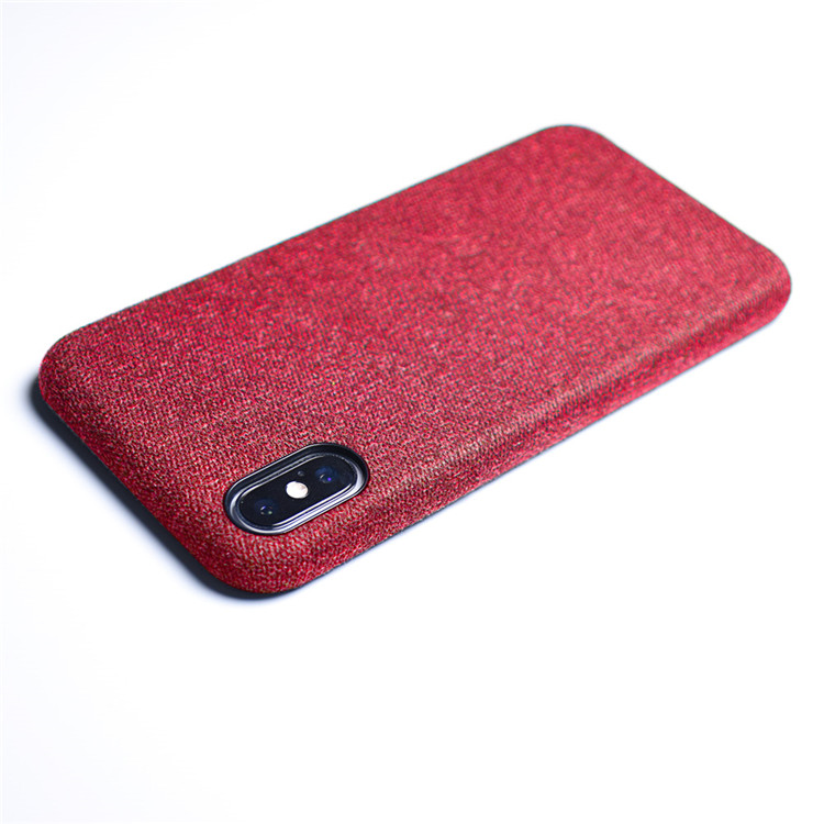 2018 Hot Product Skin Leather Canvas Pattern phone case for iphone x