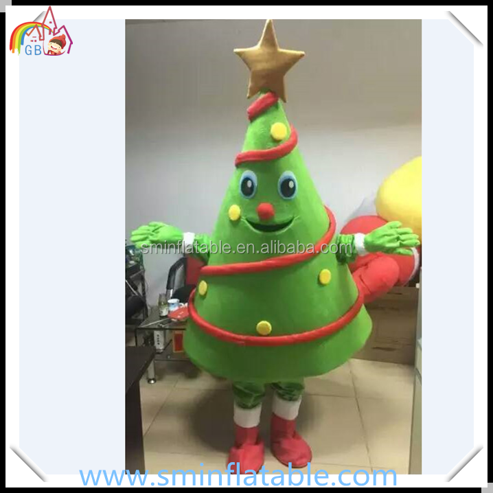 Christmas tree mascot costume, adult green plants costume for carnival/halloween wearing