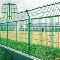 iron wire mesh fence with PVC coated for garden,road,expressway,railway,airport