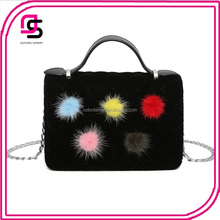 NEW FASHION woolen cloth bags alibaba china supplier ladies ball shopping bags spring fashion bags