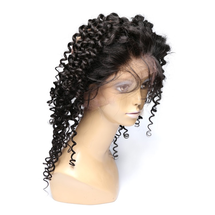 XBL custom order Brazilian curly natural hair line with elastic at back virgin 360 lace frontal