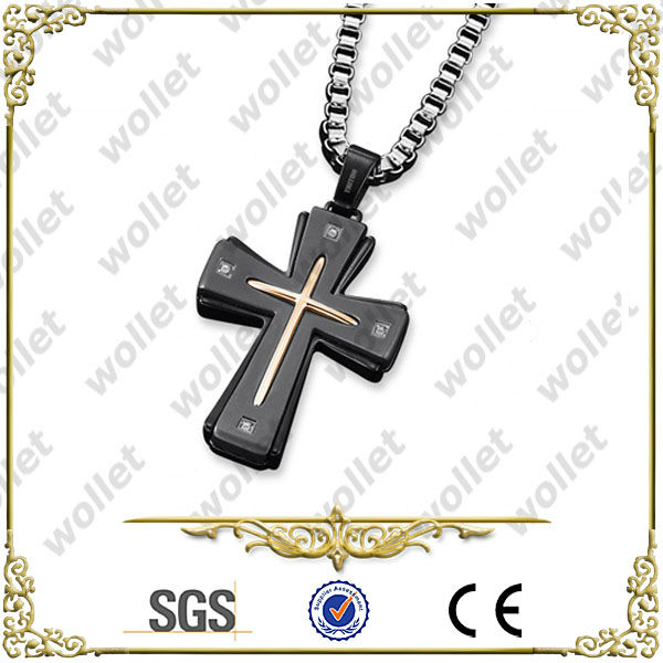 Wholesale Black Stainless Steel Costume Jewelry Crosses