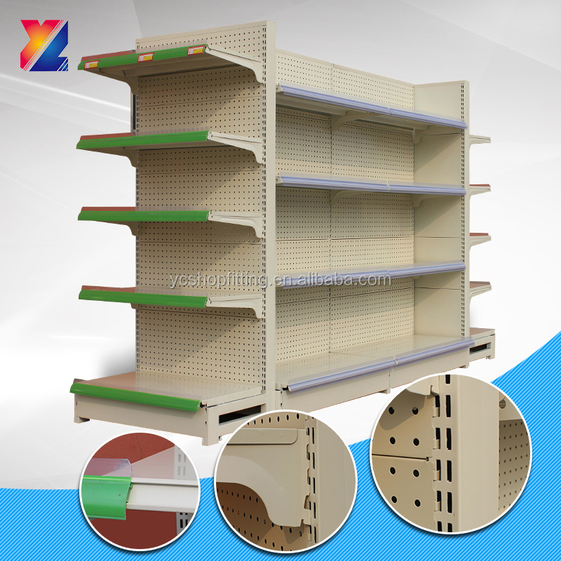 factory price double side metallic multi layer steel supermarket shelf