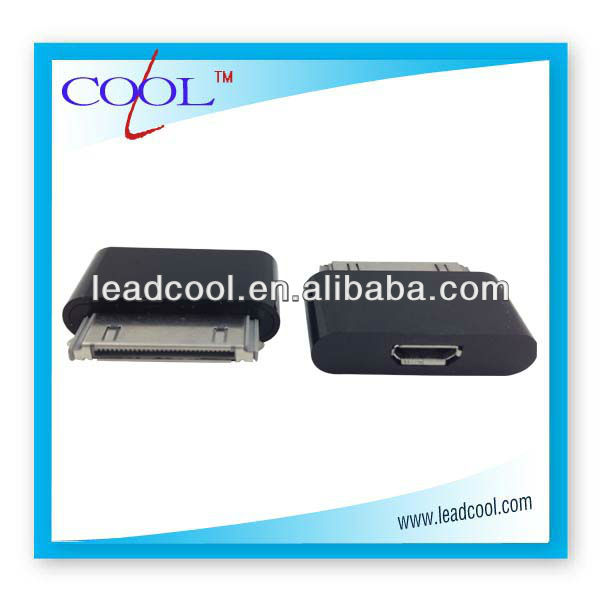 Male to Female 30 pin Dock usb mini transfer connector to Micro USB Adapter For ipod ipad iPhone 4 4S 4G 3G 3GS original