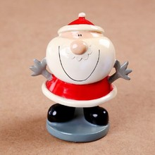 custom polyresin figure, christmas resin ball figure,santa claus resin figure ball toy