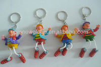 Polyresin painting promotion key chain