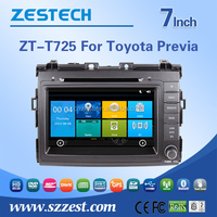 7 inch 2 din in-dash car dvd player for Toyota Previa car sat navi with car headunit 3G Wifi Bluetooth GPS Radio Audio V-10disc